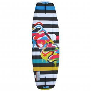 The Black Stripes Wakeboard 142cm bottom-1